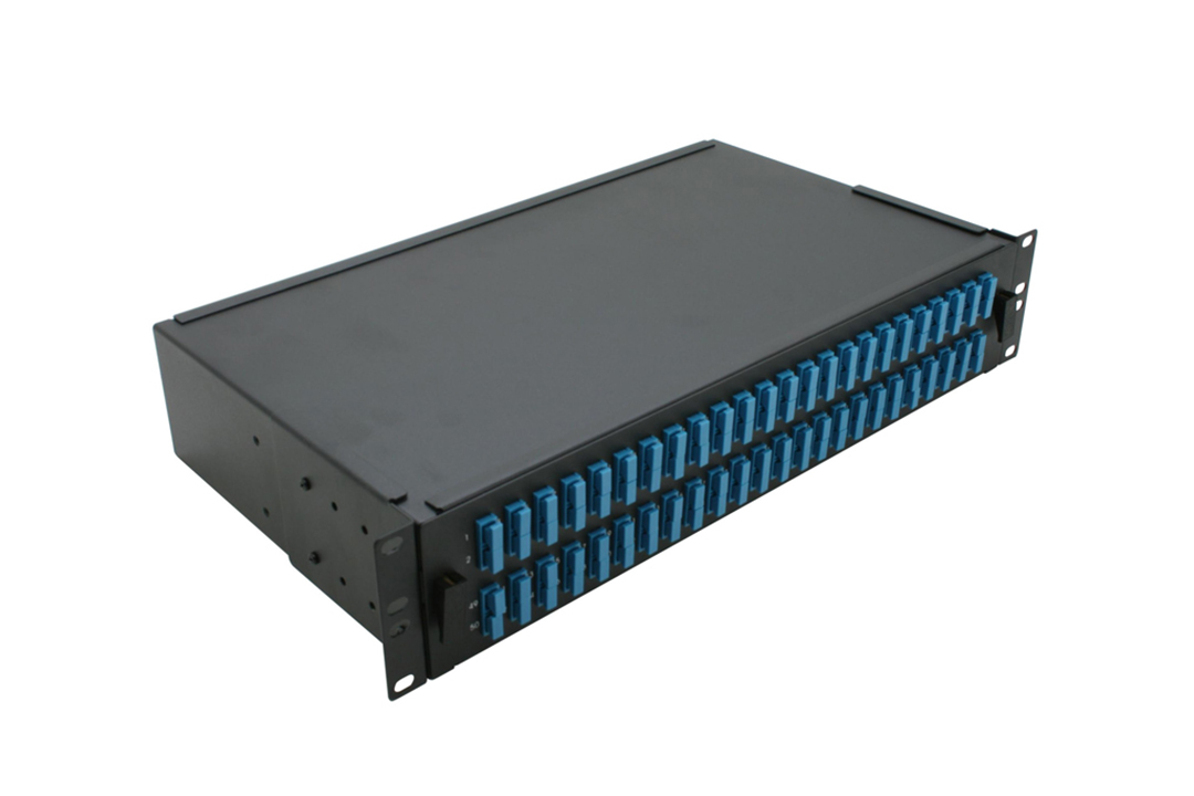 2U Sliding Patch Panel - 48 Port SC Duplex Up To 96 Fibers